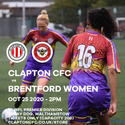 Match Reservation: CCFC v Brentford Women - 25/10/20