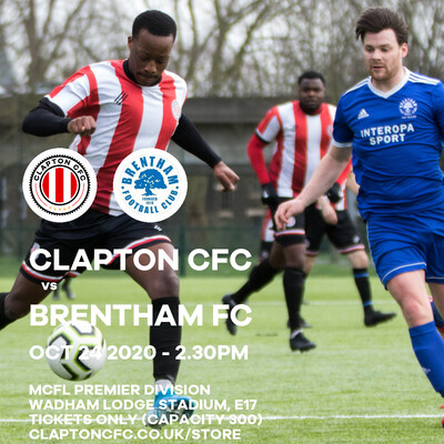 Match Reservation: CCFC v Brentham FC - 24/10/20