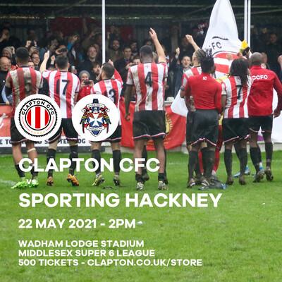 Match Reservation: CCFC v Sporting Hackney - 22/05/21