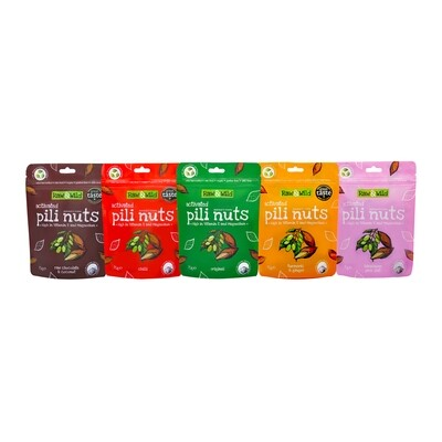Raw & Wild Activated Pili Nuts Classic Box Set - 5 x 70g