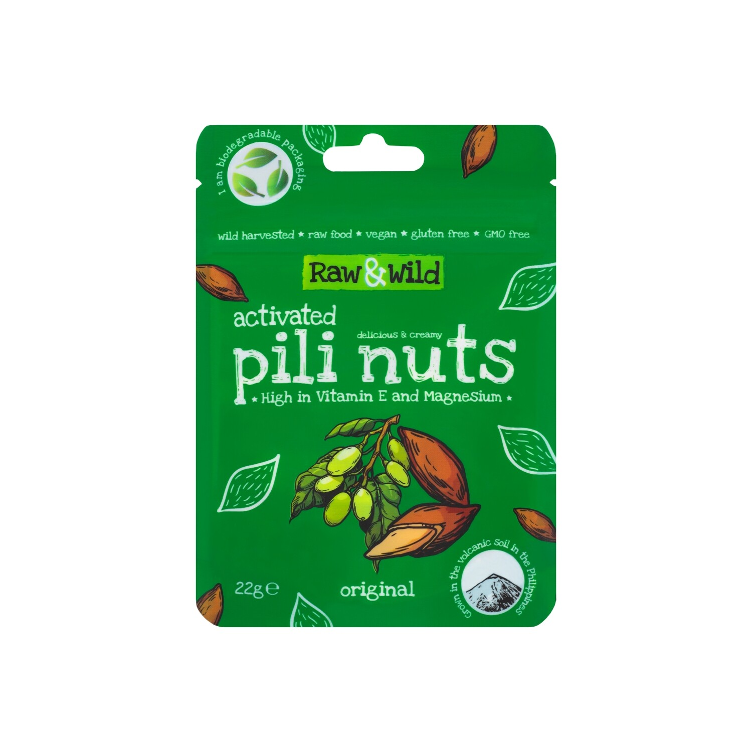 Activated Original Pili Nuts - 22g Snack Pack