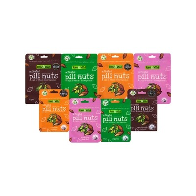 Activated Pili Nuts Raw & Wild Family Box Set - 4 x 70g + 4 x 22g