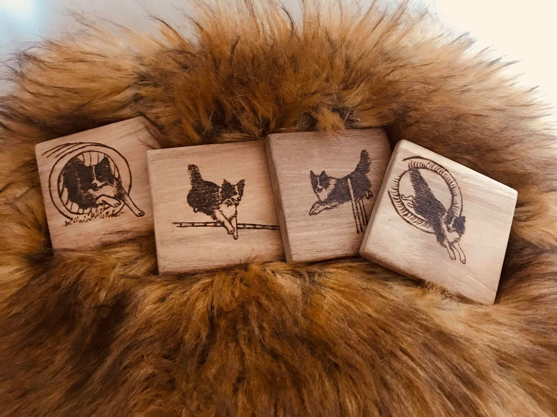Wood Coasters - set of four