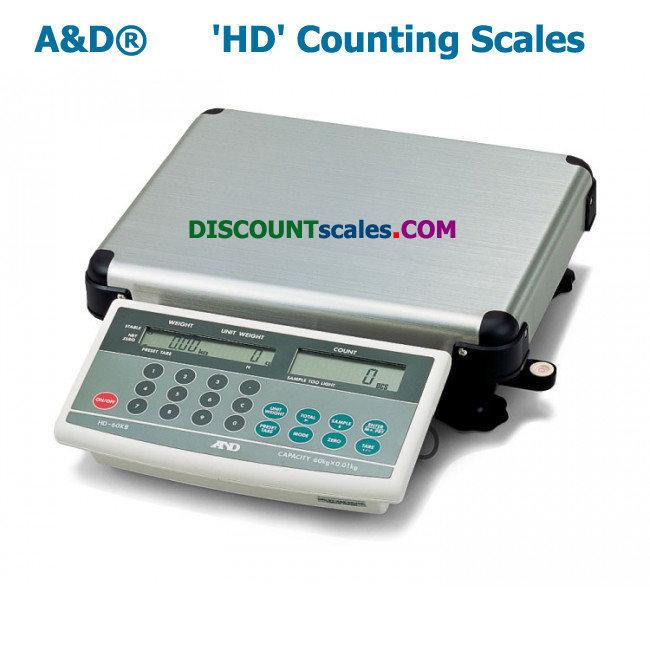 A&D Weighing® HD-60KA Counting Scale  (120 lb. x 0.02 lb.)