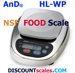 A&D Weighing® HL-3000WP Food Scale   (3000g. x 1.0g.)