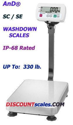 A&D Weighing® SE-60KAM Washdown Bench Scale  (130 lb. x 0.02 lb.)