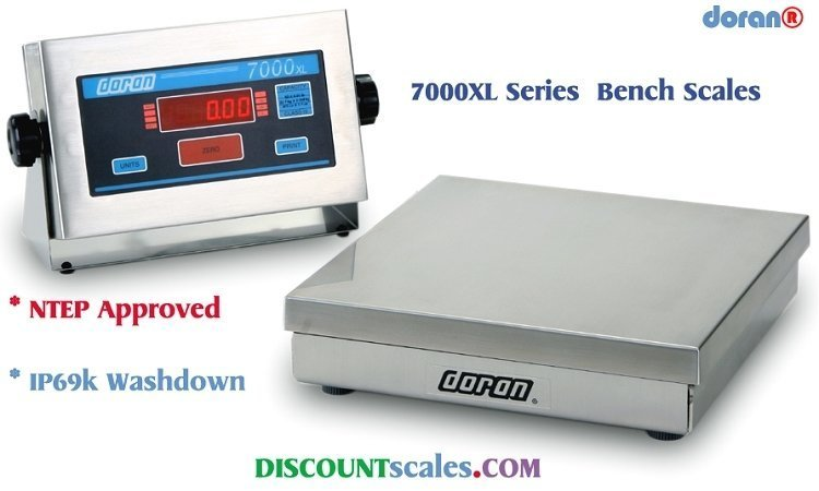 Doran® 7050XL Bench Scale  (50 lb. x 0.01 lb.)