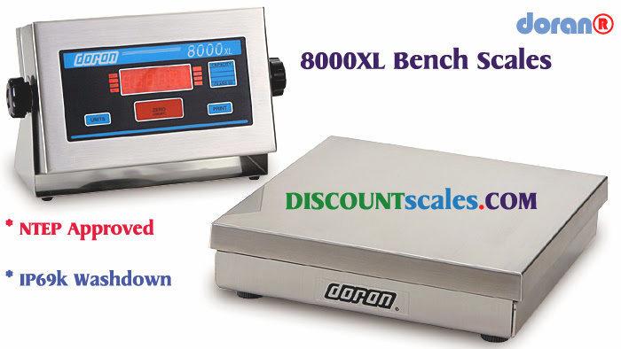 Doran® 8025XL Bench Scale  (25 lb. x 0.005 lb.)