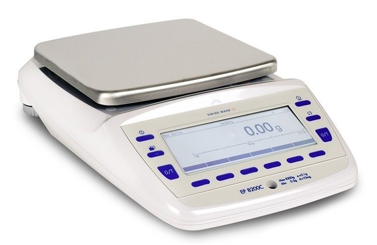 Intelligent Weighing® Precisa EP 8200C SCS Balance   (8200g. x 0.01g.)