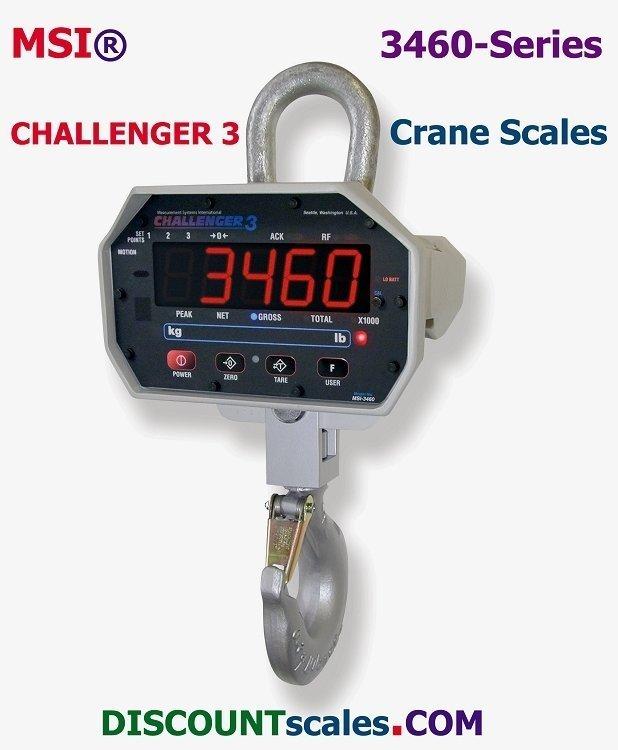 MSI-502887-0002 Crane Scale (1000 lb. x 0.5 lb. + 2000 lb. x 1.0 lb.)