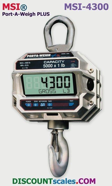 MSI 502666-0014 Crane Scale (2000 lb. x 1.0 lb.)