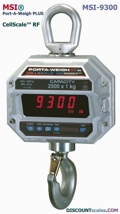 MSI 502654-0002 Crane Scale (2000 lb. x 1.0 lb.)