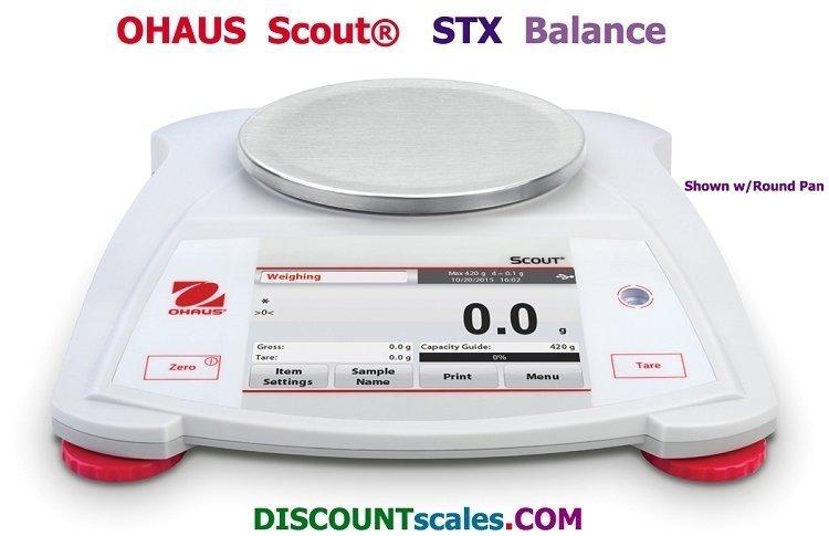 Ohaus® Scout™ STX622 Balance (620g. x 0.01g.)