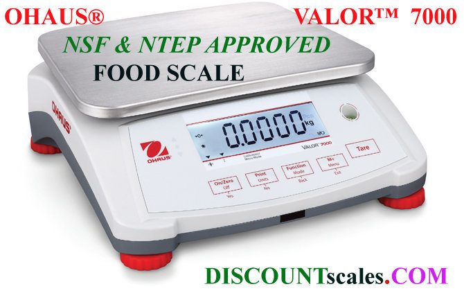 Ohaus® V71P1502T Valor™ 7000 Food Scale   (3.0 lb. x 0.0001 lb.)