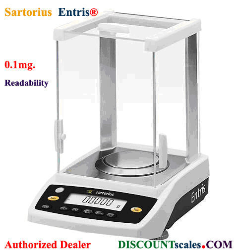 Sartorius® QUINTIX65-1S Semi-Micro Balance (65g. x 0.01mg.)