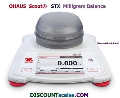 Ohaus® Scout™ STX123 Milligram Balance  (120g. x 0.001g.)