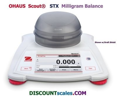 Ohaus® Scout™ STX223 Milligram Balance  (220g. x 0.001g.)