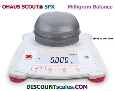 Ohaus® Scout™ SPX123 Milligram Balance  (120g. x 0.001g.)