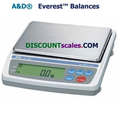 A&D Weighing® EK-1200i Everest™ Balance  (1200g. x 0.1g.)