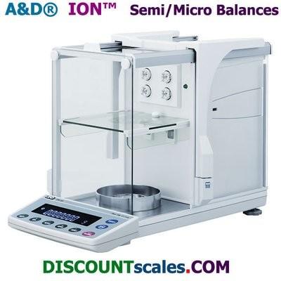 A&D Weighing® iON™ BM-22 Micro Balance    (DUAL-RANGE:  5.1g. x 0.001mg. & 22g. x 0.01mg.)