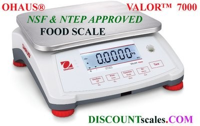 Ohaus® V71P6T Valor™ 7000 Food Scale  (15.0 lb. x 0.0005 lb.)