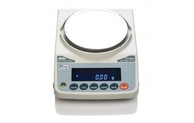 A&D Weighing® FX-2000iWP Waterproof Balance     (2200g. x 0.01g.)