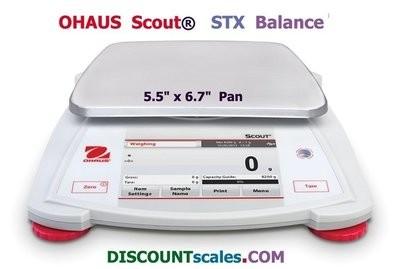 Ohaus® Scout™ STX6201 Balance (6200g. x 0.1g.)
