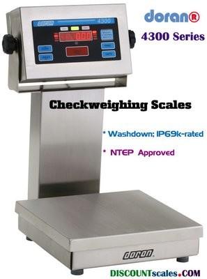 Doran® 4325P CheckWeighing Scale  (25 lb. x 0.005 lb.)