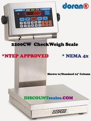 Doran® 22002CW/88 CheckWeighing Scale  (2 lb. x 0.0005 lb.)