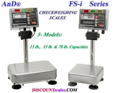 A&D Weighing® FS-15Ki CheckWeighing Scale    (35 lb. x 0.002 lb.)