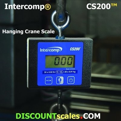 Intercomp® CS200 Model 100775 Crane Scale  (25 lb. x 0.01 lb.)
