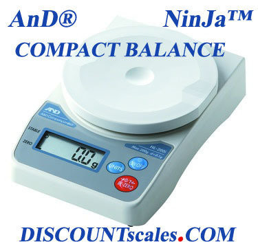 A&D Weighing® HL-2000iVP NinJa™ Portable Scale     (2000g. x 1.0g.)
