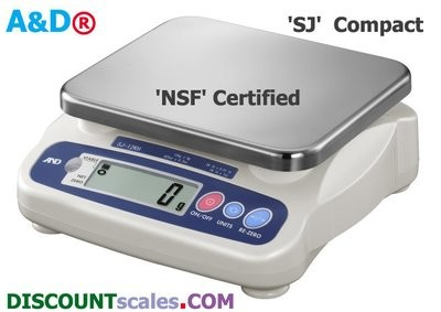 A&D Weighing® SJ-20KHS Food Scale     (44 lb. x 0.02 lb.)
