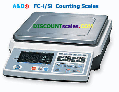 A&D Weighing® FC-500Si Counting Scale   (500g. x 0.02g.)