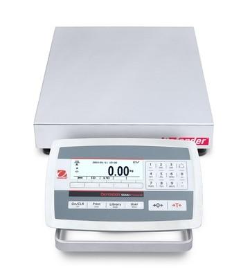 Ohaus® D52XW12RQR5 Defender™ 5000 Washdown Bench Scale  (25 lb. x 0.001 lb.)