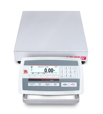 Ohaus® D52XW25RTR5 Defender™ 5000 Washdown Bench Scale  (50 lb. x 0.002 lb.)
