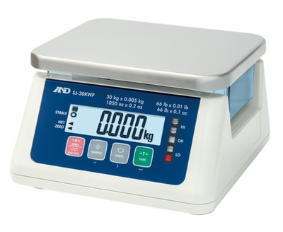 A&D Weighing® SJ-6000WP Washdown Compact Scale  (13.0 lb. x 0.0005 lb.)