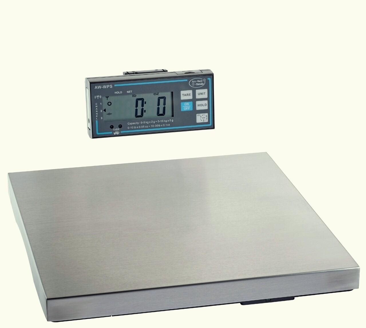 Yamato® AW-WPS Wireless Platform Scale   (30 lb. x 1/8 oz.) ONLY $319!
