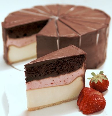Neapolitan Cheesecake - Mile High Decadence!