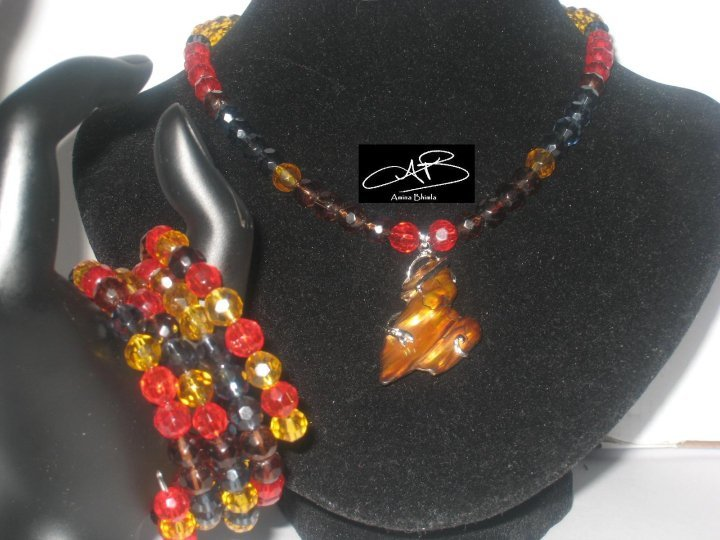 FALL PEARL SET/ PARURE NACRE D'AUTUMNE