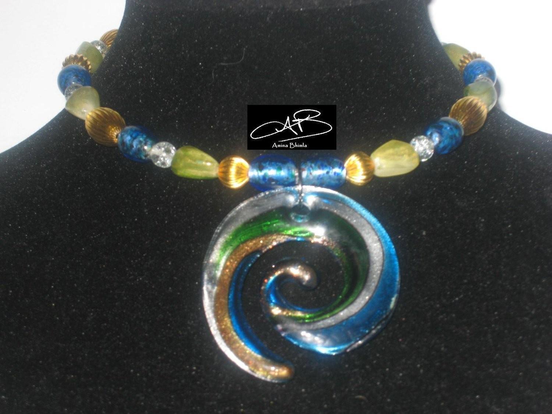 Candy swirl choker/ collier bonbon spirale