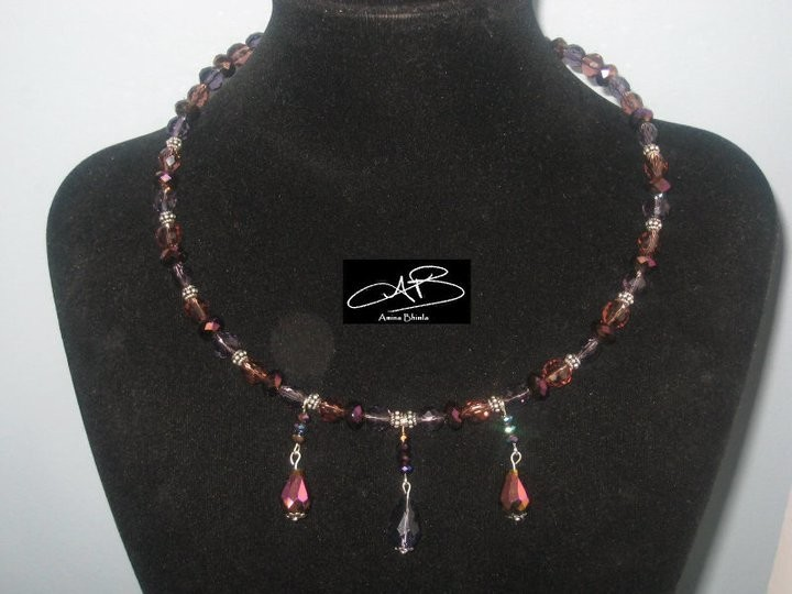 GLASS CHOKERS- several colors/ COLLIER EN VERRE- en plusieurs couleurs