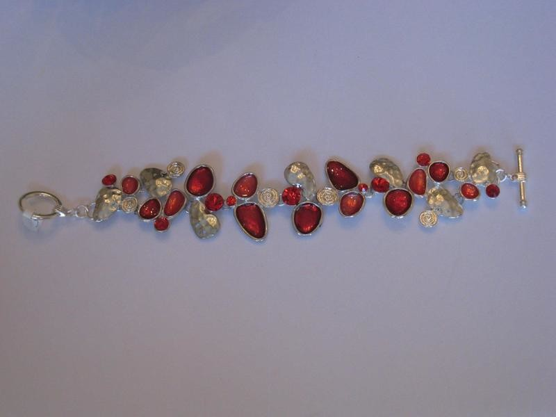 RED GRAPES BRACELET/  BRACELET ROUGE RAISINS