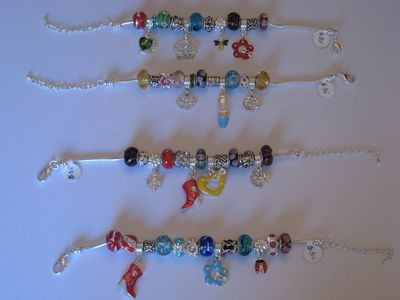 Pandora Style Bracelets- SEVERAL TYPES/ PLUSIEURS TYPES