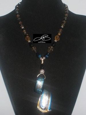 BLUE TOFFEE NECKLACE/ COLLIER CARAMEL BLEU