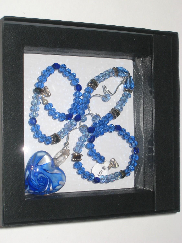 Blue Heart Necklace/ Collier Coeur Bleu