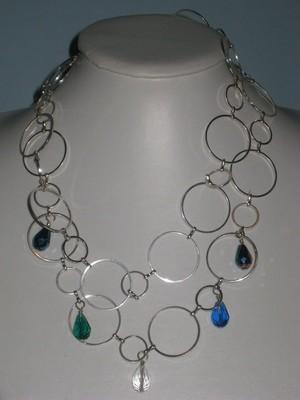 Circles and glass belt-necklace/ Les cercles et du verre ceinture-collier