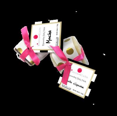 Rejuvenating Body Polish – Solid Squares, White Chocolate - Coconut scent (Net Wt. 4oz | e 113g)