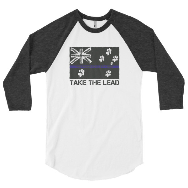 3/4 sleeve raglan Take the lead Aussie shirt