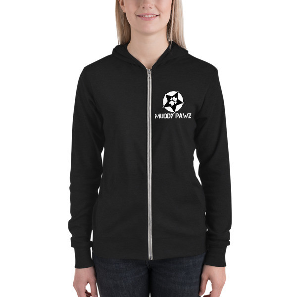 Muddy Pawz Star Unisex zip hoodie
